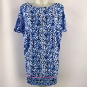 Lilly Pulitzer Blue Short Sleeve Dress Size XS